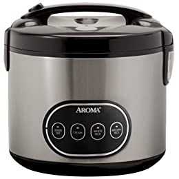 Aroma Stainless Steel Rice Cooker
