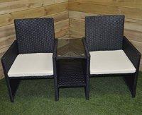 Kingfisher RLOVE Rattan Love Chair  Multi-Colour | Rattan ...