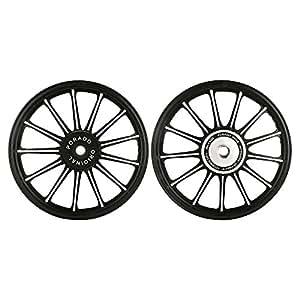 Autofy Porado 13 Spokes Black & Chrome Alloy Wheels for