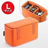 サンワダイレクト インナーカメラバッグ ソフトクッションボックス ワイドサイズ 200-BG019L