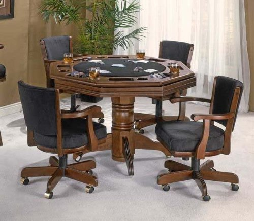 Buy Low Price Hillsdale 5pc Game Dining Table And Arm Chairs Set In Cherry Fi