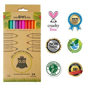 Eco-Friendly-Quality-Artist-Colored-Pencils-Set-24-Soft-Lead-Pre-Sharpened-Bright-Assorted-Eco-Colored-Pencils-For-Kids-Classroom-Drawing-Sketching-Shading-and-Adult-Coloring-Books