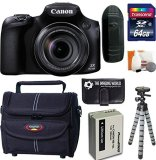 Canon-PowerShot-SX60-HS-161-MP-Wi-Fi-65x-Optical-Zoom-Digital-Camera-64GB-Card-and-Reader-Battery-Tripod-Bag-Digital-Camera-Accessories-Kit