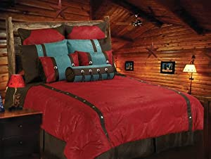 HiEnd Accents Cheyenne Red Bedding