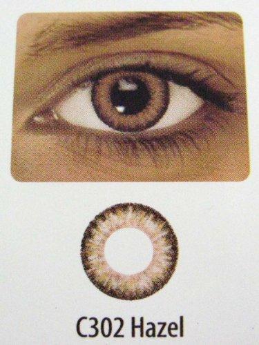 Kosmetik Farbige Kontaktlinsen 2-Monatslinsen & 1 Paar (2 Stück) incl. 3 Tone Haselholz