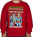 Men's DC Comics Batman Superman Faux Christmas Sweater