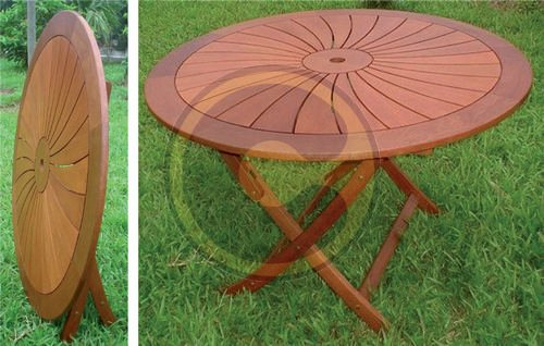 table ronde de jardin pliante pas cher