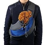 Mokingtop Pet Dog Cat Puppy Carrier Mesh Travel Tote Shoulder Bag Sling Backpack (L, Blue)