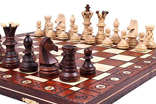 Unique Wood Chess Set, Pieces, Chessboard