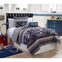 Furry Friends 3 Piece Train Theme Boys Twin Quilt Bed Set ...