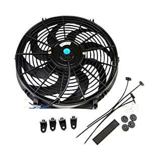 Amazon.com: 14 inch Universal Slim Fan Push Pull Electric