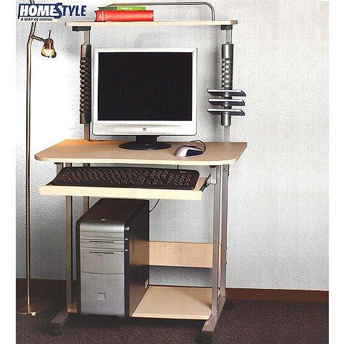 Computertisch Schreibtisch mit Bücherregal 70x56x128cm