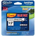 Brother Laminated Black On White Tape 2Pack (TZe2312PK) for $21.21 + Shipping