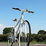 DREADNOUGHT(ドレッドノート)DN8001700C(27インチ)クロスバイク【ホワイト×グリーン】シマノ7段変速高速48Tチェーンホイール Vブレーキ 12.8kg フロントサスペンション(Fサス)/スタンド付/カラーリム アルミフレーム
