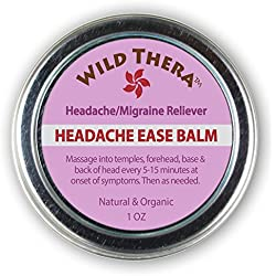 Headache Ease Balm. Natural Herbal Relief From Tension, Discomfort, Stress, Anxiety, Migraines and More. Soothes, Cools, Calms and Relaxes.