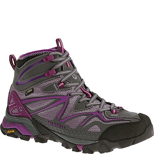 Merrell Women's Capra Sport Mid Gore-Tex Hiking Boot, Purple, 7.5 M US