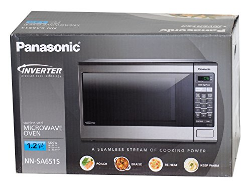 best price for panasonic stainless steel microwave oven 1 2 cubic feet 1200 watts inverter technology model nn sa651s microwave ovens reviews
