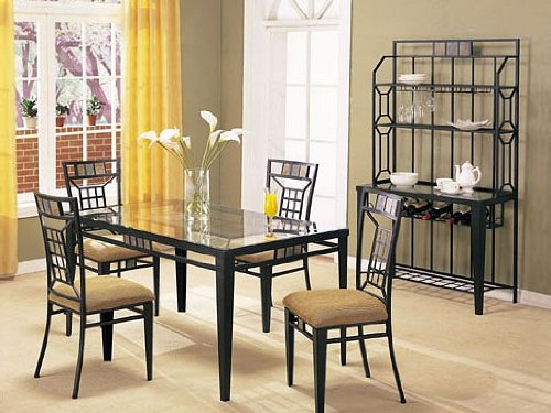 Buy Low Price Acme Furniture 5 Pc Metal And Glass Dining