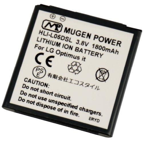 MUGEN POWER Optimus it ドコモL-05D用大容量互換性電池パックバッテリーPSE認証済みHLI-L05DSL 1800mAh