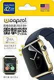 Wrapsol(ラプソル)擦れ傷・割れ防止 衝撃吸収フィルム Apple Watch対応【2枚入り】(42mm) A005-IWC42