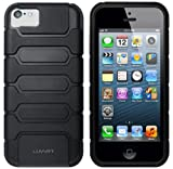 LUVVITT® ARMOR SHELL Double Layer Shock Absorbing Case for iPhone 5C (LIFETIME WARRANTY | Retail Packaging) - Black