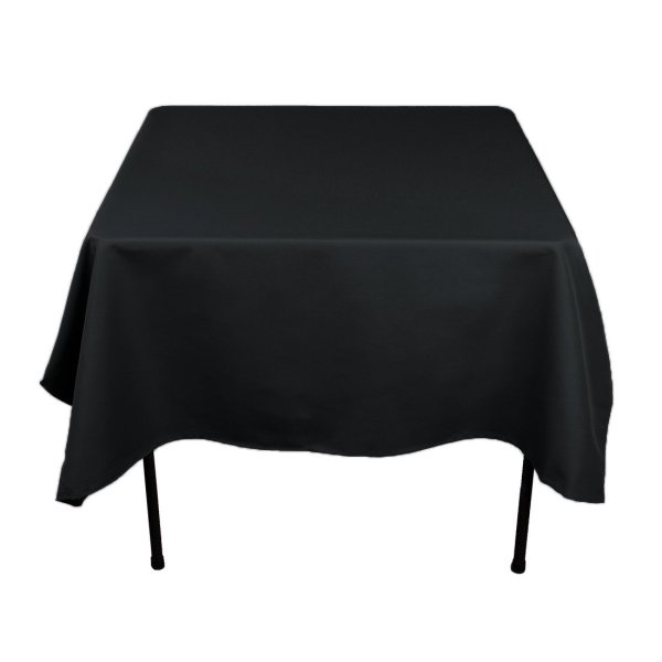 Linentablecloth 70 Square Polyester Tablecloth Black