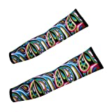 KingTECH 1 Pair Outdoor Sports Riding Cycling Drying Sun Protection Unique Printings Cooling Arm Sleeves Skin Cover (CG-15)