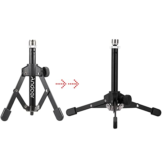 Andoer MS-12 Mini Foldable Mic Desk Stand