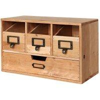 Awardpedia - Brown File Organizer - Wood Desk Organizer