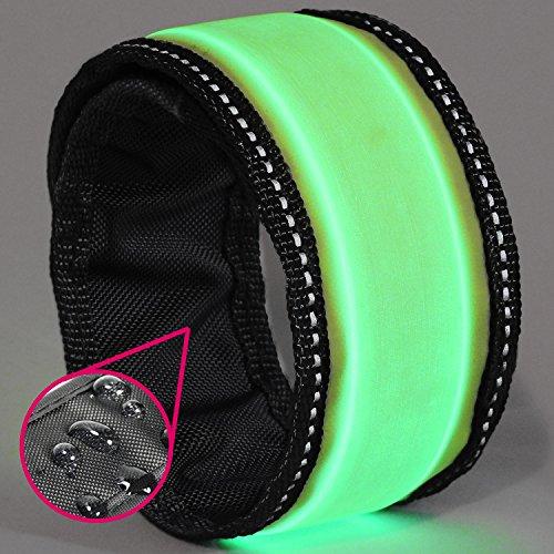 LED Slap Bracelet – Glow BAND by GlowHERO – Sweat Proof – Ultra Bright – High Visibility Safety Wristband – Replaceable Battery – Reflective Stitching – Fits Women, Men & Kids