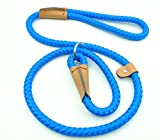 Pet Cuisine Dog Leash Training Slip Lead Puppy Nylon Rope Adjustable Loop Collar Blue