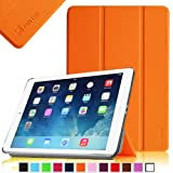 Fintie SmartShell Case for Apple iPad Air (iPad 5 5th Generation) Ultra Slim Lightweight Leather Stand (with Smart Cover Auto Wake / Sleep) - Orange