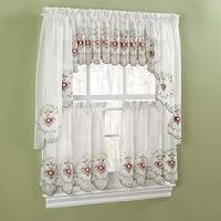 Amazon.com - Gisela Rose Kitchen Curtains - Valance ...