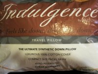 "Indulgence Travel Pillow by Isotonic 16""x12"", New, Free"
