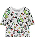 Ninimour Womens Harajuku Mushrooms Print T-Shirt Crop Tops