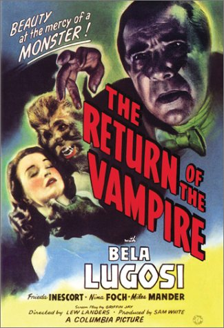 "Cover of ""The Return of the Vampire"""