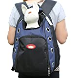 Sanzang Dog Cat Pet Head Out Carrier Portable Outdoor Travel Backpack(Blue,L)