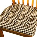Dining chair pad with ties black amp white checkers 1 4 quot check size