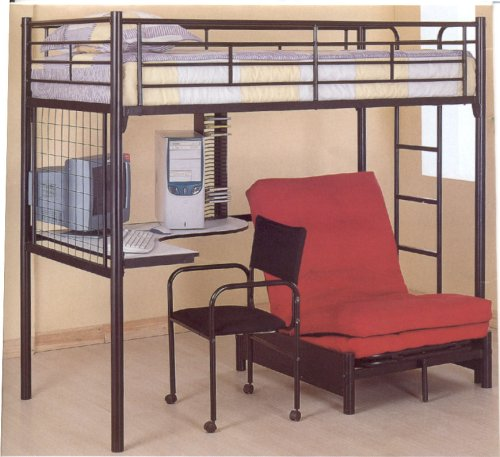 Metal Loft Beds With Desk Underneath