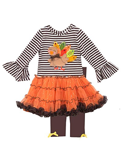 Rare Editions Girls' Tutu Legging Set, Turkey, 12M