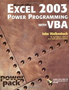 "Cover of ""Excel 2003 Power Programming wi..."