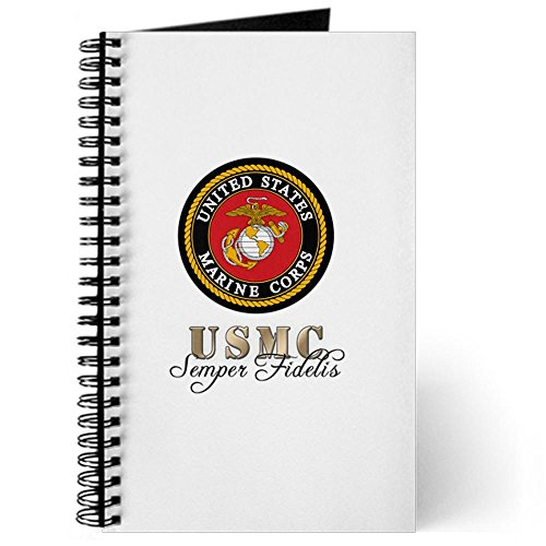 CafePress - Semper Fidelis Marine Corps Journal - Spiral Bound Journal Notebook, Personal Diary, Lined