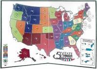 Amazon.com: Littleton 50 State Quarter Display Map Folder ...