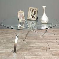 Amazon.com: Modern Art Deco Round Glass Style Chrome ...