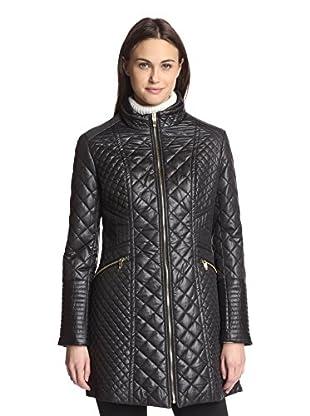 Via Spiga Women's Quilted Zip-Front Jacket (Black)