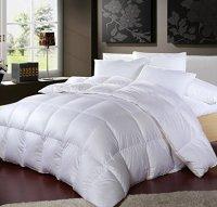 LUXURIOUS 1200 Thread Count GOOSE DOWN Comforter , Queen ...