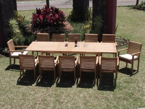 New 13 Pc Luxurious Grade-A Teak Dining Set