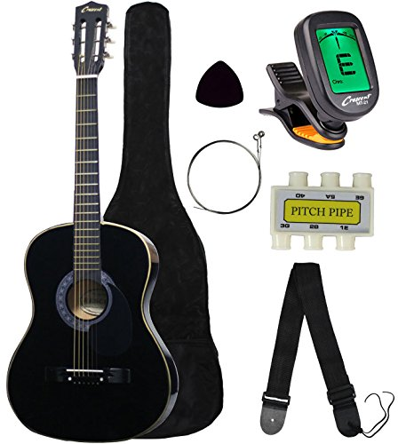 Crescent-MG38-BK-38-Acoustic-Guitar-Starter-Package-Black-Includes-CrescentTM-Digital-E-Tuner
