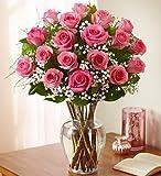 1-800-Flowers - Rose Elegance Premium Long Stem Pink Roses - 18 Stem Pink Roses