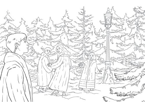 The Lion The Witch And The Wardrobe Coloring Coloring Pages